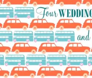 L'affiche teaser de la série Quatre mariages et un enterrement