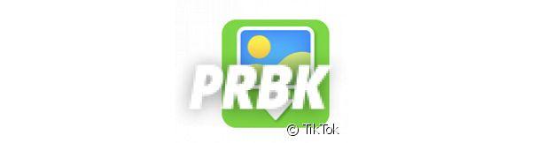 L'icône fond vert de TikTok