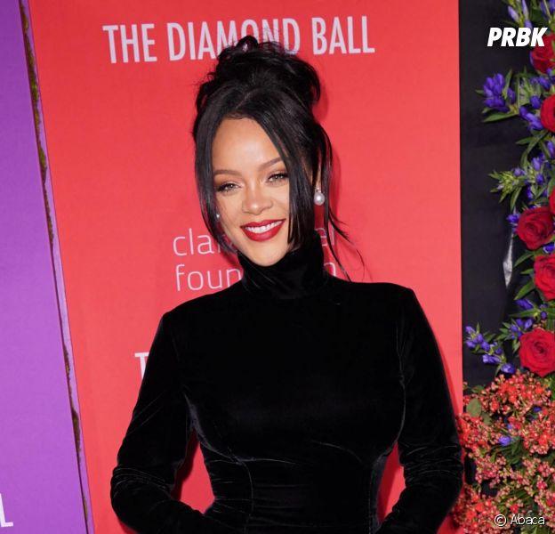 Rihanna sur le tapis rouge du Diamond Ball le 12 septembre 2019