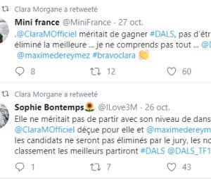 Danse avec les stars 10 : Clara Morgane reposte des messages de ses fans après son élimination