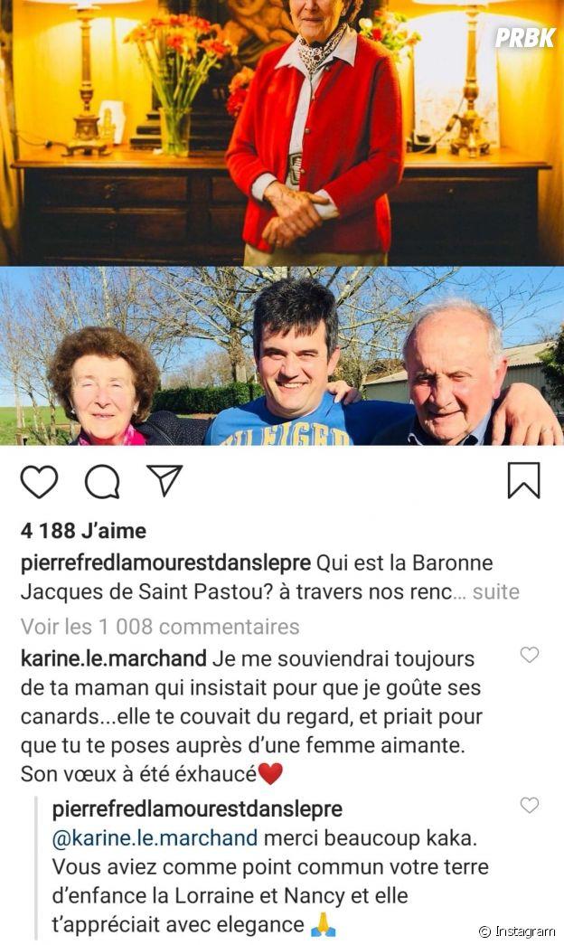 L'amour est dans le pré : un ancien candidat en deuil, Karine Le Marchand le soutient
