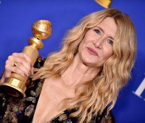 Laura Dern récompensée aux Golden Globes 2020 le 5 janvier à Los Angeles