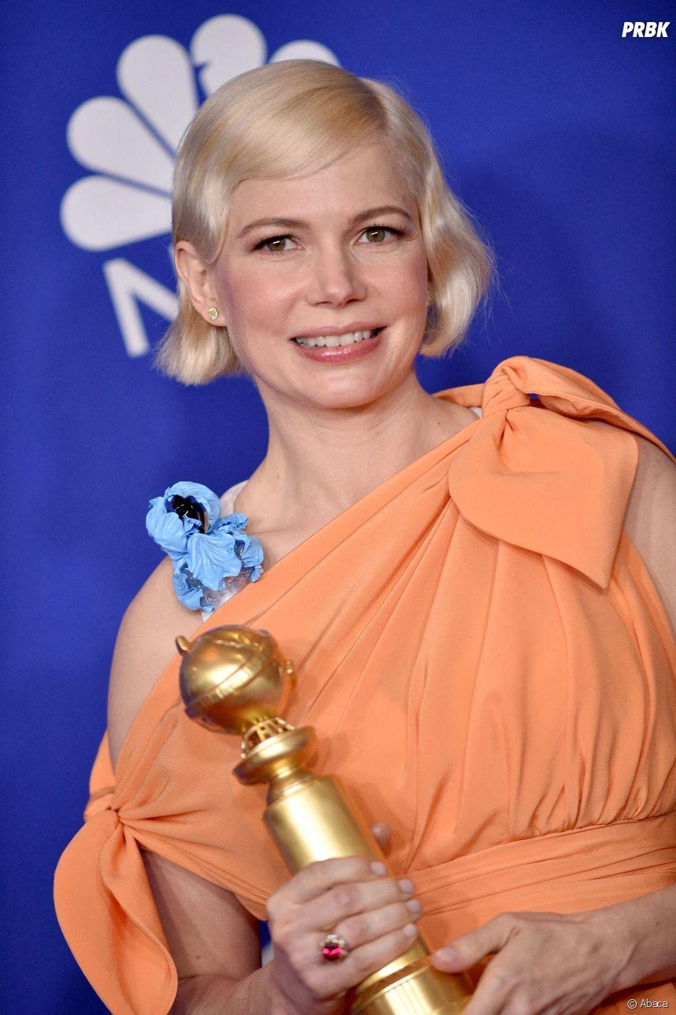 Michelle Williams récompensée aux Golden Globes 2020 le 5 janvier à Los Angeles