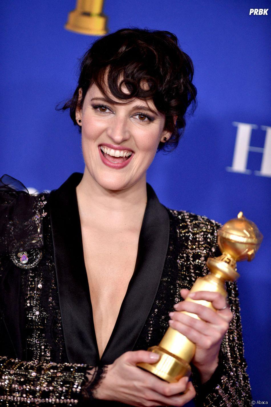 Phoebe Waller-Bridge récompensée aux Golden Globes 2020 le 5 janvier à Los Angeles