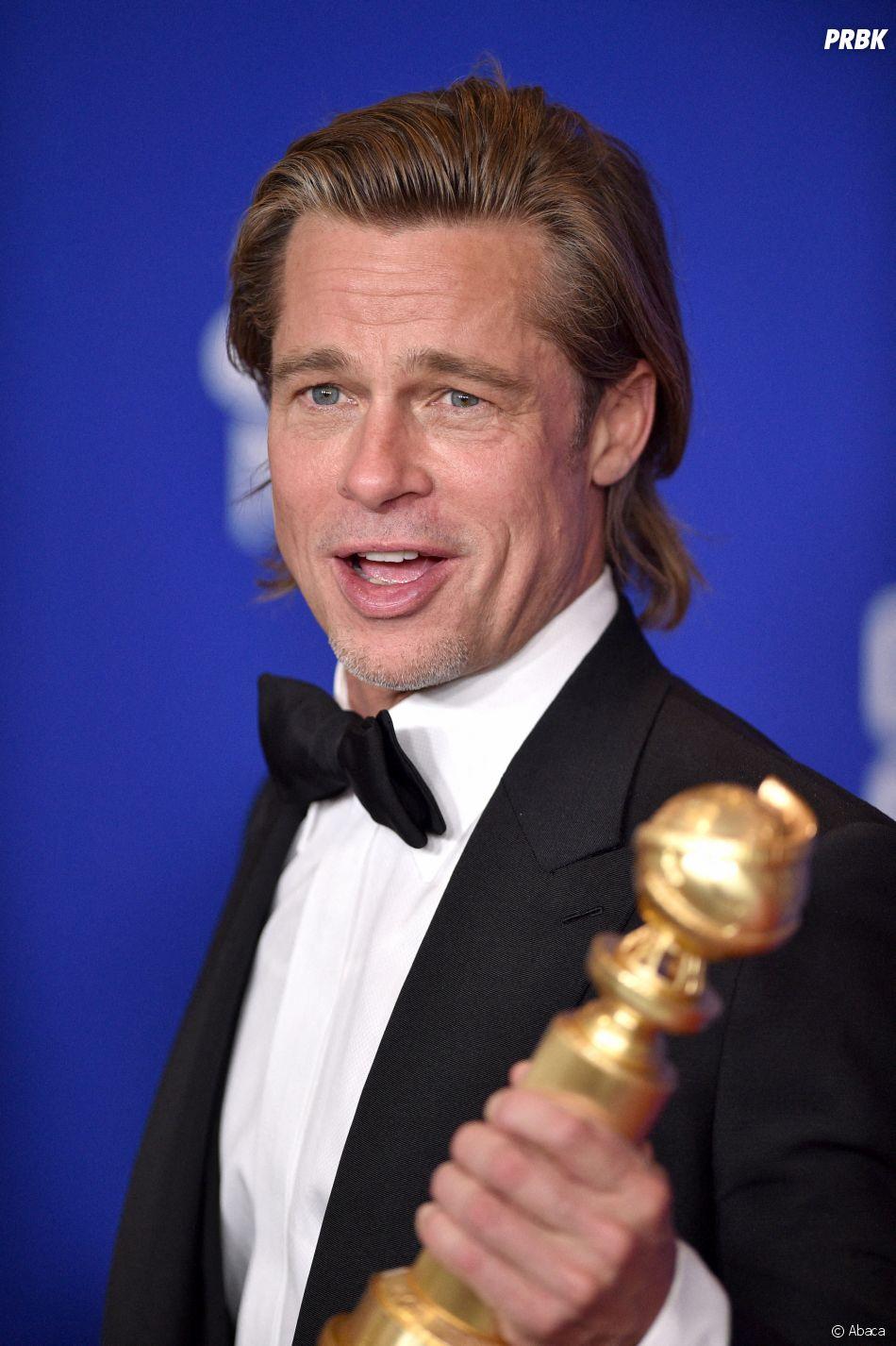 Brad Pitt récompensé aux Golden Globes 2020 le 5 janvier à Los Angeles