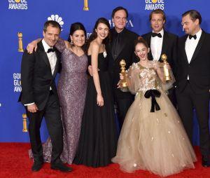 L'équipe de Once Upon a Time... in Hollywood récompensée aux Golden Globes 2020 le 5 janvier à Los Angeles