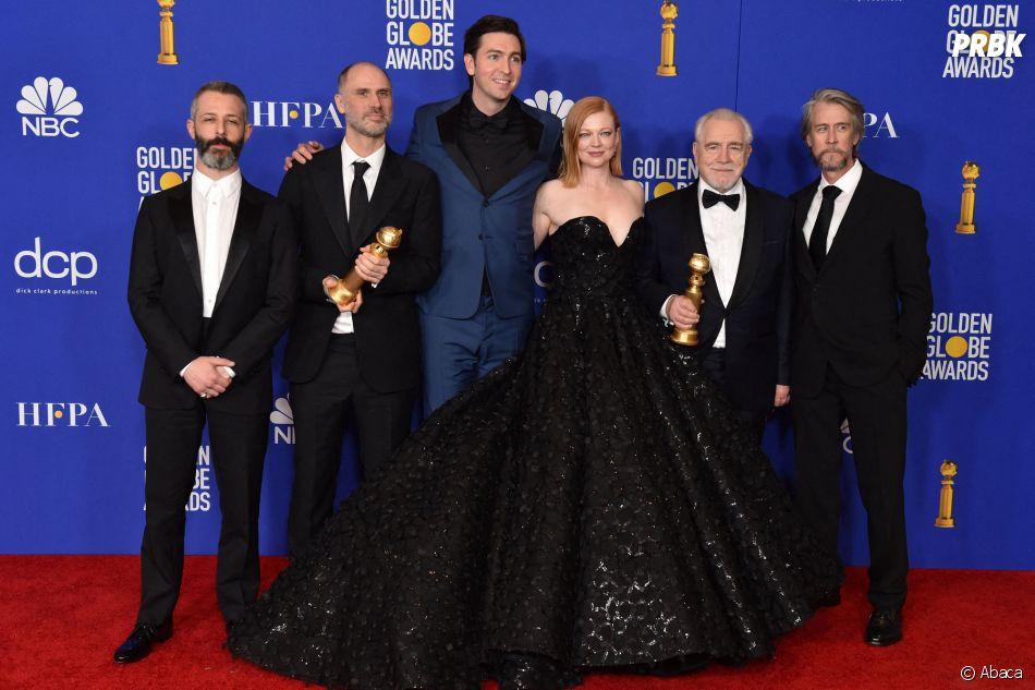 L'équipe de Succession récompensée aux Golden Globes 2020 le 5 janvier à Los Angeles