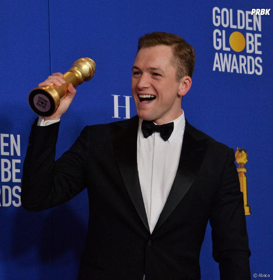 Taron Egerton récompensé aux Golden Globes 2020 le 5 janvier à Los Angeles