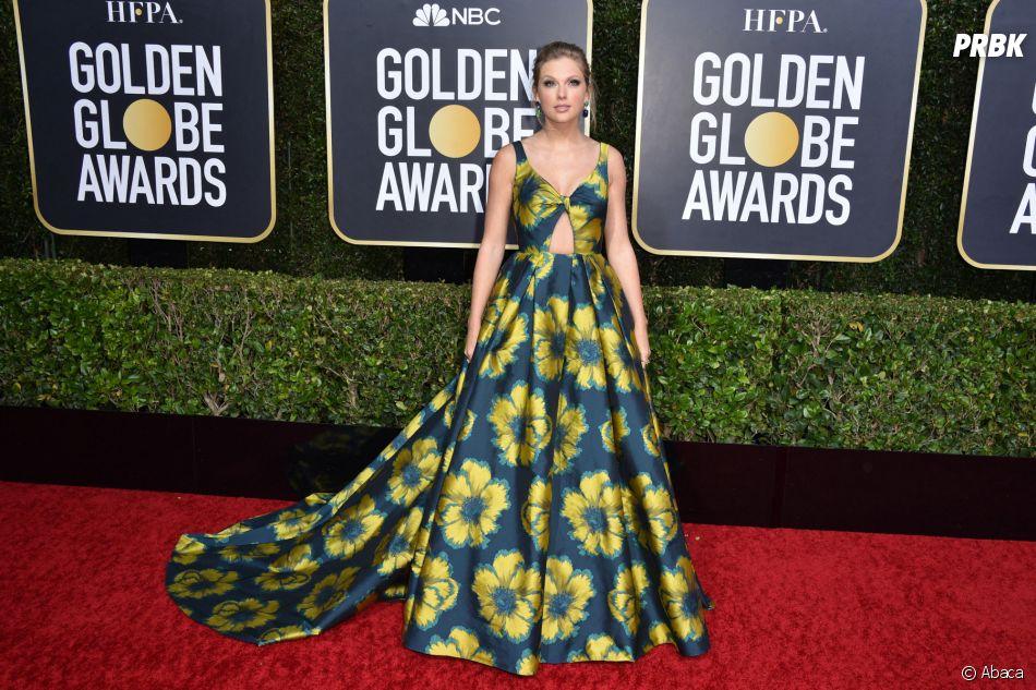 Taylor Swift sur le tapis rouge des Golden Globes 2020 le 5 janvier à Los Angeles