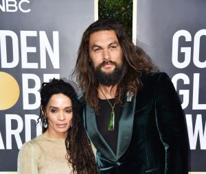 Lisa Bonet et Jason Momoa sur le tapis rouge des Golden Globes 2020 le 5 janvier à Los Angeles