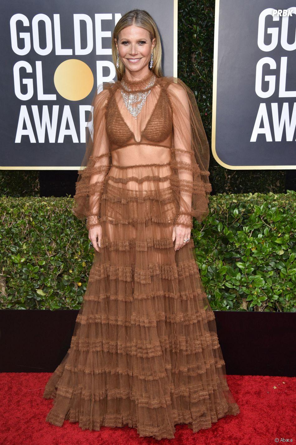 Gwyneth Paltrow sur le tapis rouge des Golden Globes 2020 le 5 janvier à Los Angeles