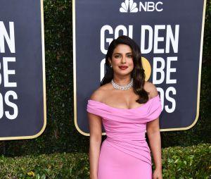 Priyanka Chopra sur le tapis rouge des Golden Globes 2020 le 5 janvier à Los Angeles
