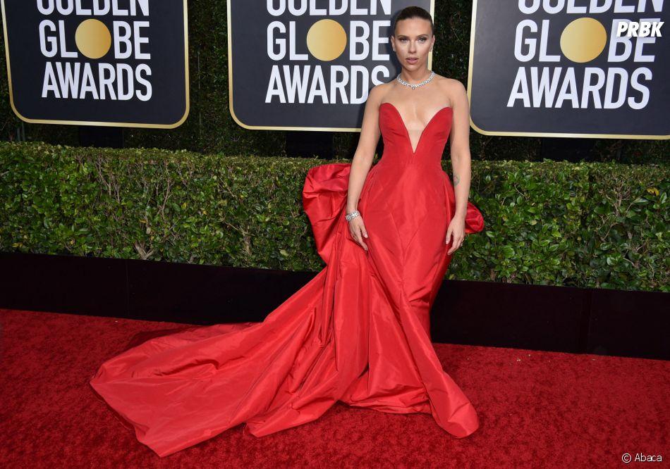 Scarlett Johansson sur le tapis rouge des Golden Globes 2020 le 5 janvier à Los Angeles