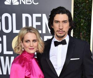 Adam Driver et sa femme Joanne Tucker sur le tapis rouge des Golden Globes 2020 le 5 janvier à Los Angeles