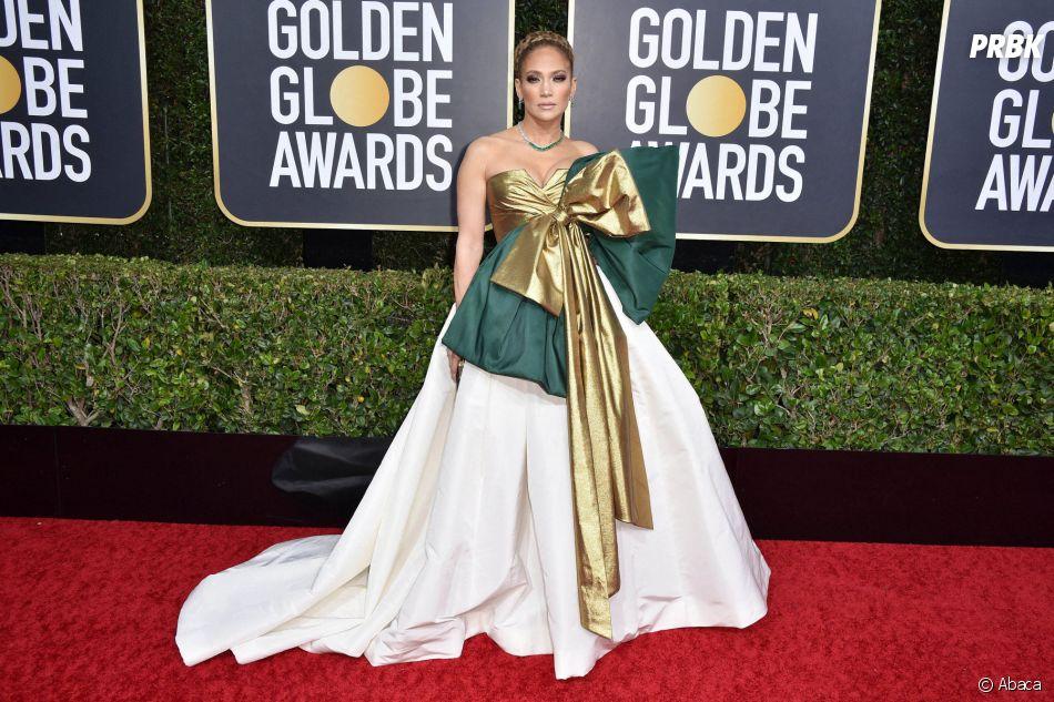 Jennifer Lopez sur le tapis rouge des Golden Globes 2020 le 5 janvier à Los Angeles