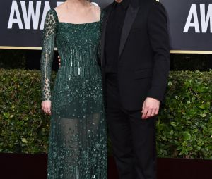 Rose Leslie et Kit Harington sur le tapis rouge des Golden Globes 2020 le 5 janvier à Los Angeles