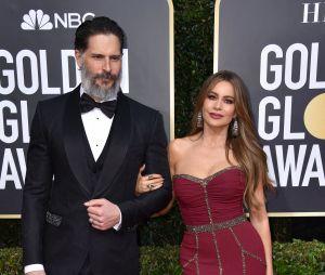 Joe Manganiello et Sofia Vergara sur le tapis rouge des Golden Globes 2020 le 5 janvier à Los Angeles