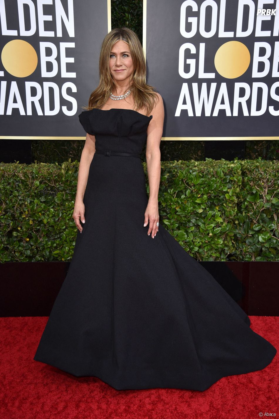Jennifer Aniston sur le tapis rouge des Golden Globes 2020 le 5 janvier à Los Angeles