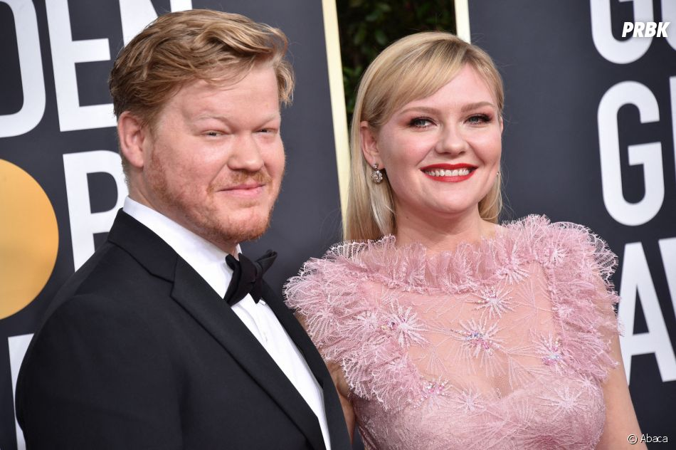 Jesse Plemons et Kirsten Dunst sur le tapis rouge des Golden Globes 2020 le 5 janvier à Los Angeles
