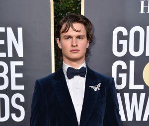 Ansel Elgort sur le tapis rouge des Golden Globes 2020 le 5 janvier à Los Angeles