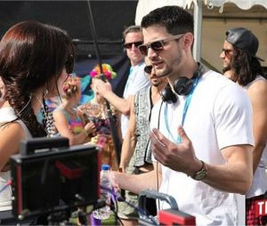 James Lafferty sur le tournage de la série The Royals