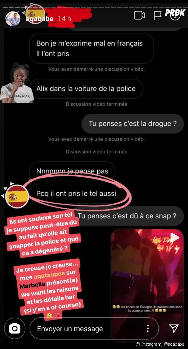 Alix agressée par des policiers à Marbella en Espagne : la candidate des Marseillais Asian Tour raconte tout en détails