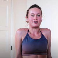 Captain Marvel : Brie Larson dévoile son entrainement en confinement et c'est douloureux