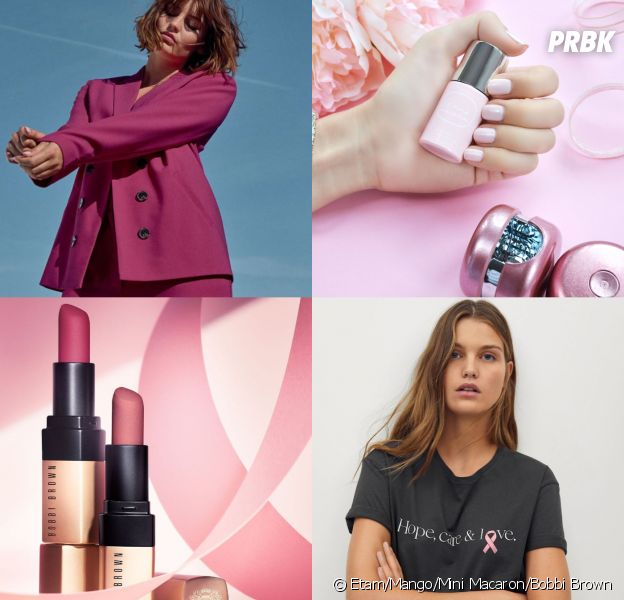 Octobre Rose : Etam, Mango, Mini Macaron, Bobbi Brown... Les marques se mobilisent