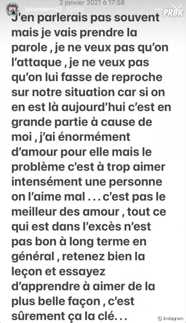Hilona critiquée pour sa rupture avec Julien Bert : il prend sa défense