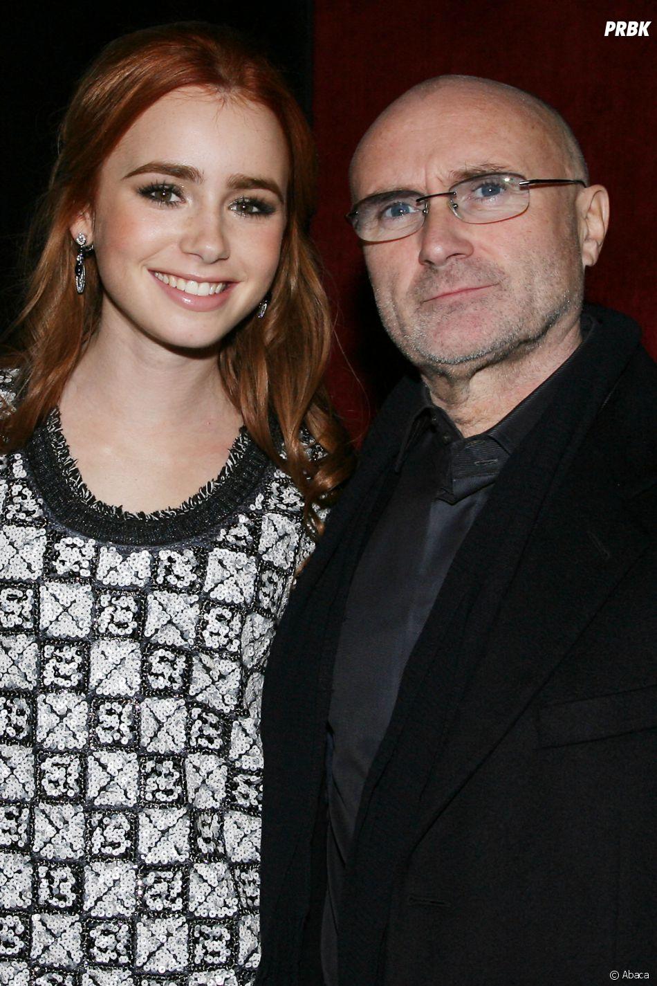 Lily Collins est la fille de Phil Collins