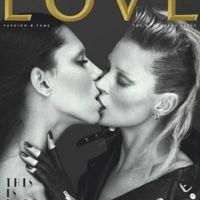 Kate Moss ... elle embrasse une femme ... en Une d'un magazine