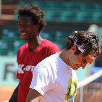 Roland Garros 2011 à J-4 ... les photos de Federer, Tsonga, Monfils et Simon à l'entraînement