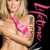 Heidi klum se met à nu pour promouvoir Project Runway