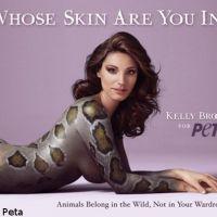 Kelly Brook : Elle pose nue en serpent (PHOTO)