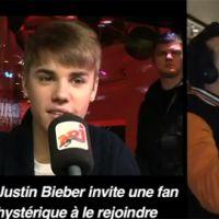 Justin Bieber sur NRJ chez Cauet : il invite une fan ... folle (VIDEO)