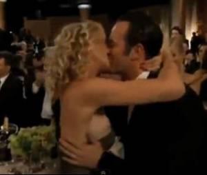 Le fameux oops d'Alexandra Lamy après le carton de Jean Dujardin aux Golden Globes 2012