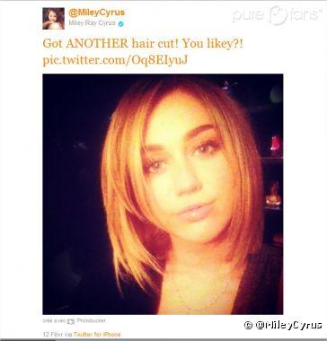 La nouvelle coupe de Miley Cyrus