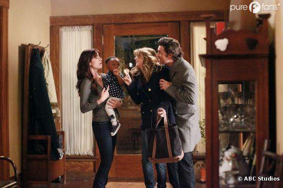 meredith and derek meet their baby