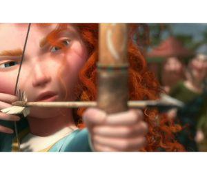 Merida s'essaye à l'arc