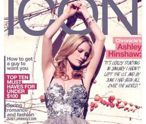 Ashley Hinshaw, en couverture d'Icon magazine