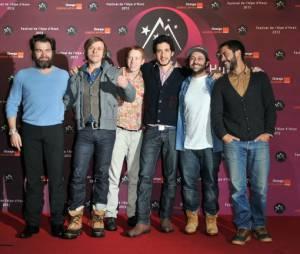 L'équipe du film Radiostars au festival de l'Alpe d'Huez