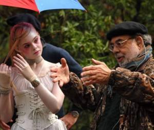 Elle et Francis Ford Coppola sur le tournage de Twixt