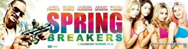 La première affiche de Spring Breakers