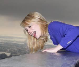 Emma Stone hurle en haut de l'Empire State Building