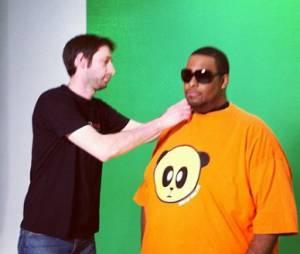 Big Ali en plein tournage