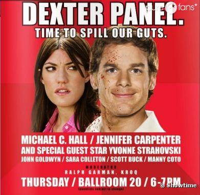 Le poster rétro de Dexter pour le Comic Con