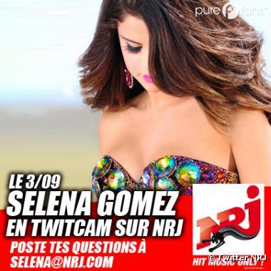 Selena Gomez va participer à une Twitcam lors de son passage à Paris