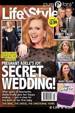 Life & Style assure qu'Adele s'est mariée en cachette !