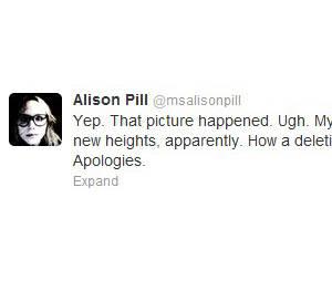 Alison prend cette affaire avec humour sur twitter