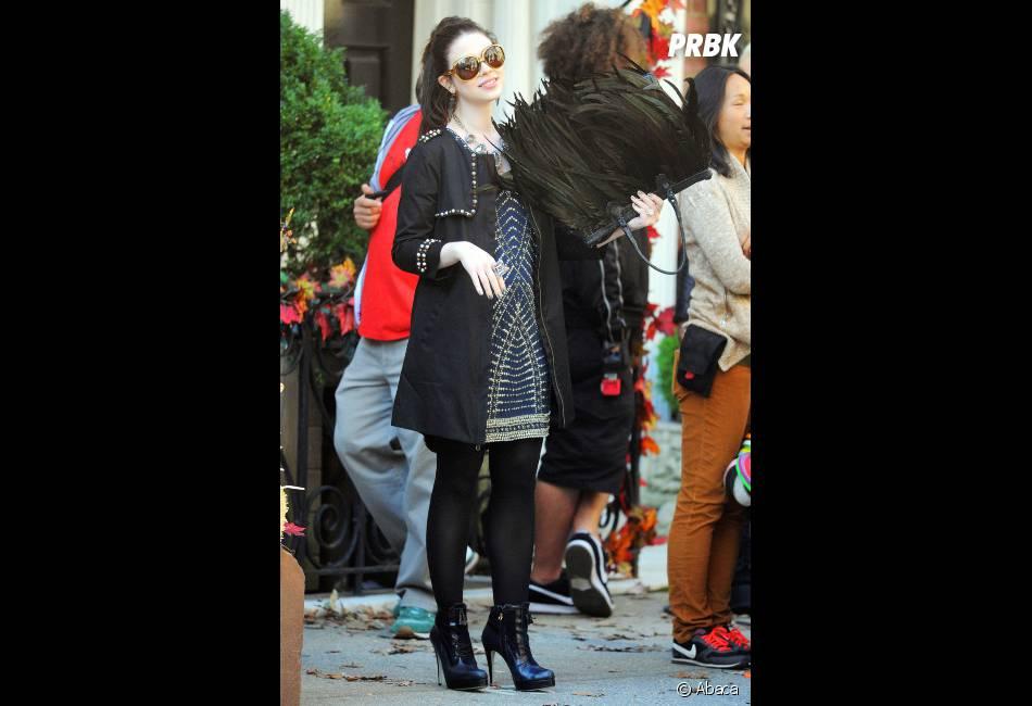 Michelle Trachtenberg a des airs de princesses dans les coulisses du tournage de Gossip Girl